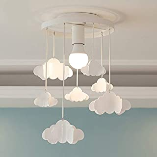 Morden Led Pendant Lights, CraftThink Cloud Shade Ceiling Lamps with Hanging Clouds E27 110V for Children's Room Living Room, Bedrooms, Best Gift for Children, Kids White