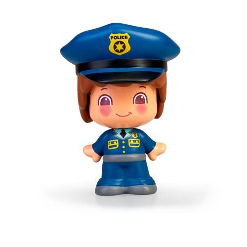 Pinypon - My First, Figura Policía, Figurita profesión policías, Juguete de policia para niños partir de un año, 3 caras diferentes,cuerpo intercambiable, Niños a partir de un año,FAMOSA (700016403)