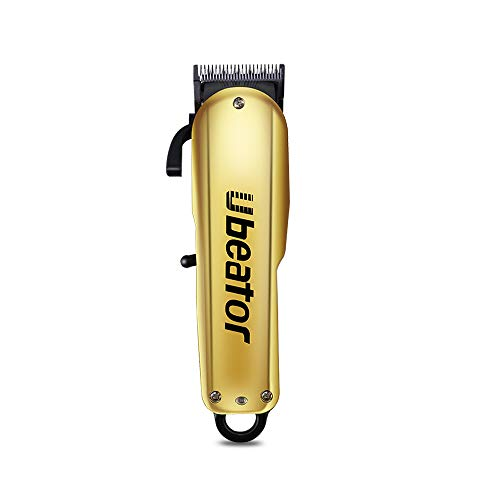 Electric Barber Rechargeable Professional Cordless Beard T-Blade Trimmer Grooming Home Hair Cutting Kit Hair Clipper Haircut Kit Wireless with 4 Guide Combs for Men Kids Barbershop (GOLD)