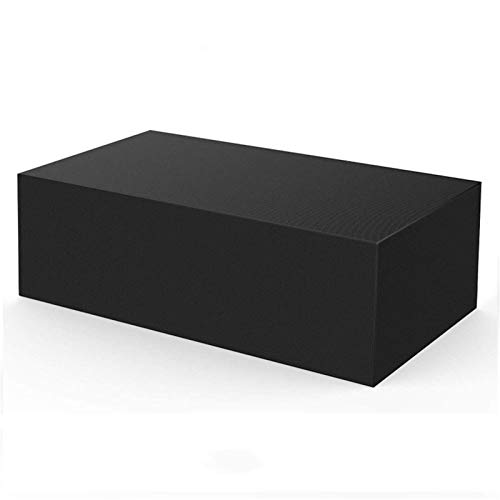 XJHKG Fundas para Muebles De Jardín, Rectángulo Cubierta De Mesa De Patio De Tela Oxford Impermeable A Prueba De Viento Y Anti-UV para Sofá Y Muebles De Exterior, Negro (90x90x40cm)