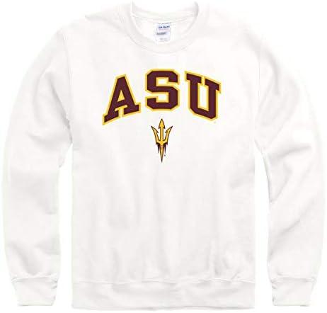 New Agenda Arizona States University A S U Sun Devils Crew Neck Sweatshirt White product image