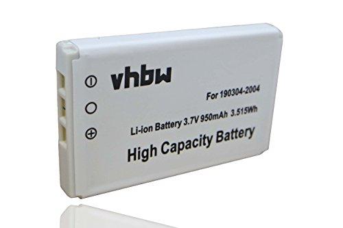 vhbw Li-Ion Akku 950mAh (3.7V) für Tastatur Keyboard Logitech diNovo Edge, Mini, Y-RAY81 wie 190304-2004, F12440071, M50A.