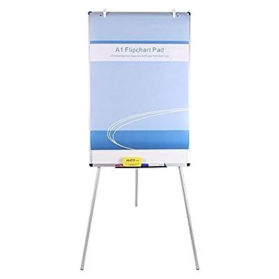 VIZ-PRO Light Melamine Tripod Whiteboard/Flipchart Easel, 90 x 60 cm from