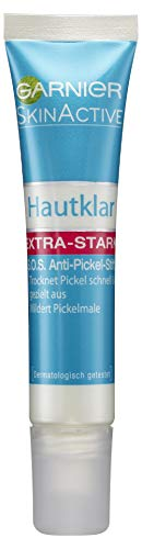 GARNIER Hautklar Anti-Pickel Stift S.O.S. / gezielte Gesichtsreinigung und Bekämpfung von Pickeln - wirkt sofort / anti bakteriell + dermatologisch getestet, 3er Pack - 3 x 10 ml