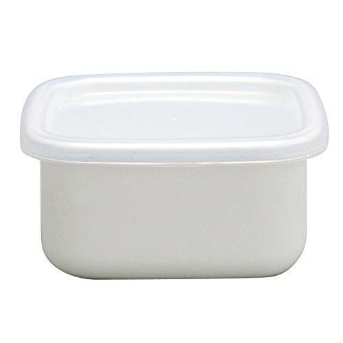 野田琺瑯 ホワイトシリーズ 保存容器 スクウェアS シール蓋付 日本製 WS-S
