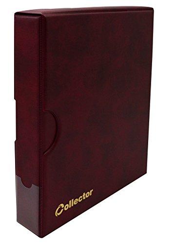 COLLECTOR Álbum para Billetes de Banco - Álbum de Billetes en Estuche - 15 páginas y 15 divisiores – Capacidad Muy Grande - Rojo