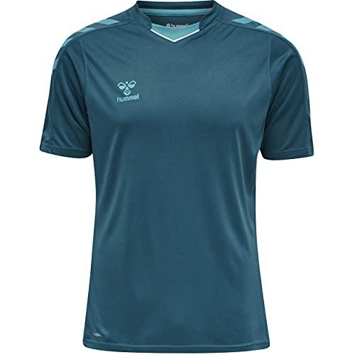 hummel hmlCORE XK Poly Jersey S/S Camiseta, Coral Azul, Medium para Hombre
