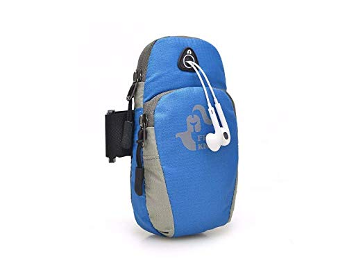 DyNamic Gratis Ritter 5,5 inch Sport Running Arm Phone Bag Pouch met oortelefoon gat voor iPhone 7 Plus 6s Plus - Blue