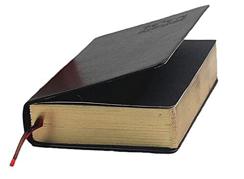 Gebundenes Tagebuch – Antikes handgefertigtes Hardcover-Notizbuch, Walt Bloom Serie, S, Schwarz