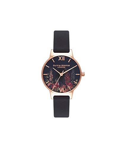 Olivia Burton Damen Analog Quarz Uhr mit Leder Armband OB16WG43