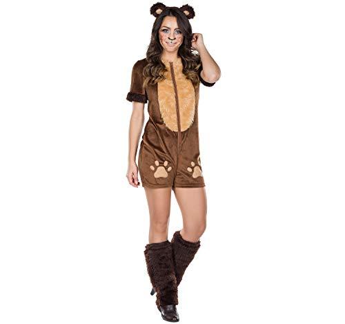 Rubies 13486-40 - Disfraz de Oso marrón para Mujer, Mono para Carnaval (40), Multicolor
