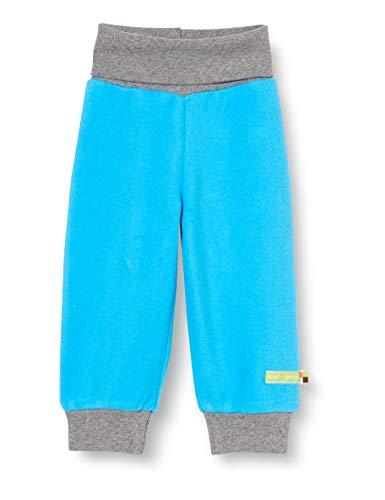 loud + proud Kinder-Unisex Fleece Hose, Aqua, 122/128