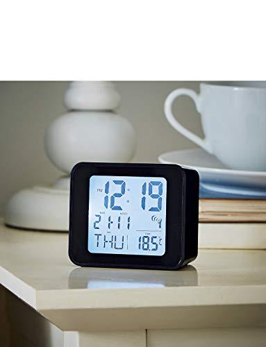 Acctim 71893 Cole Radio Controlled Alarm Clock in Black