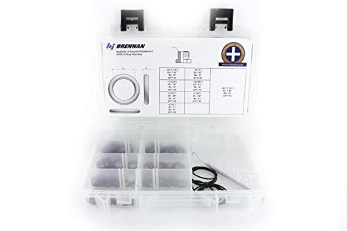 Genuine Brennan Industries FS4000-Kit ORFS/FS Hydraulic Oring Face Seal Kit (Fits Parker, Gates, Aeroquip, Weatherhead & Other SAE Fittings/Adapters) with Bonus O-Ring Picker