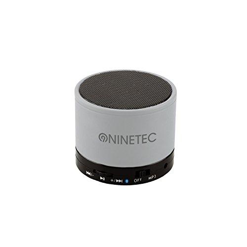 NINETEC BeatBlaster Altoparlante Bluetooth con bassi, funzione vivavoce, micro SD, AUX Singolo Grau