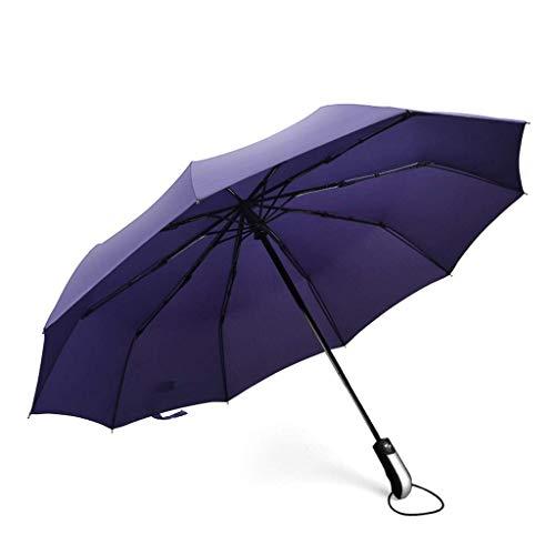 YNHNI Paraguas de Golf portátil Gran Dosel a Prueba de Viento Doble a Prueba de Viento Abra Las parbrillas de Lluvia de Gran tamaño Abierto,Portátil (Color : E)