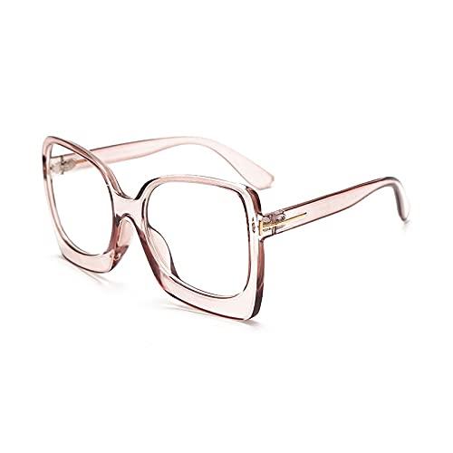 NIUBKLAS Gafas de gran tamaño para mujer, monturas de gafas cuadradas Retro, monturas ópticas personalizadas para hombres, anteojos decorativos 5