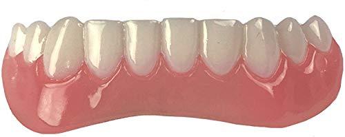 Dientes Flexibles Comfort Fit - Juego a juego, tono blanco brillante. ¡Arregle su sonrisa en casa en minutos! Funciona mejor en bocas de tamaño mediano a grande. (Lower dentures2.0)