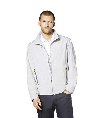 Bugatti herenjack Blouson regenjas Be Visible Collection Marine Blauw Beige licht opstaande kraag Modern Fit reflecterende strepen (art.nr.: 571600-59086)