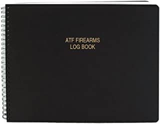 BookFactory ATF Bound Book/ATF Log Book/ATF Record Book - 100 Pages, Black-TransLux Cover - Wire-O, 11
