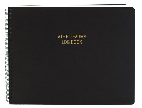 "BookFactory ATF Bound Book/ATF Log Book/ATF Record Book - 100 Pages, Black-TransLux Cover - Wire-O, 11"" x 8 1/2"" (LOG-100-GUN-W01-ATF-T41)"