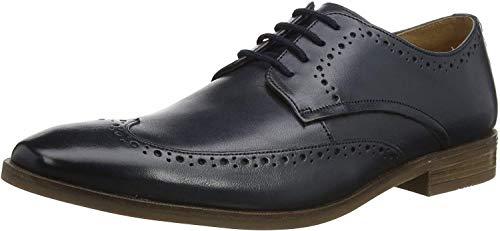 Clarks Herren Stanford Limit Derbys, Blau (Navy Leather Navy Leather), 42.5 EU