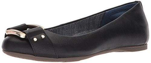 Dr. Scholl's Shoes Women's Glowing Ballet Flat, Black Smooth, 5 UK