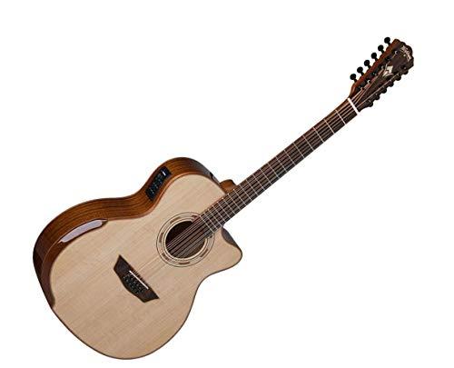 Washburn - Guitarra acústica eléctrica (12 cuerdas, WCG15SCE12-O)