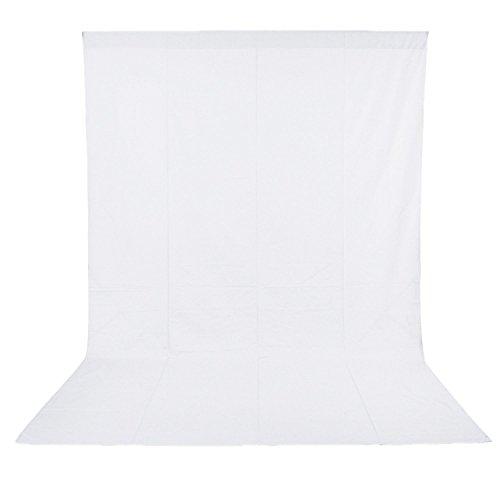Neewer 10 x 20FT / 3 x 6 M Fotostudio 100{fca3d1aa0a65882fcfda7a3e5fceea0b804e28d9225041f45724ea2f3dde2adb} reines Muslin Faltbare Hintergrund weiß