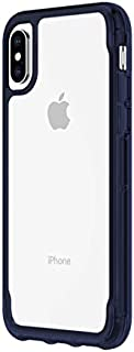 Griffin Survivor Clear Case for iPhone Xs with Shock-Absorbing Bumper and Non-Yellowing Back Shell - Clear/Iris