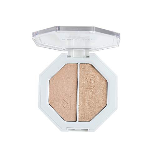 Highlighter, Two-tone Highlighter Make Up Shimmer Cream Face Highlight Eyeshadow (204)