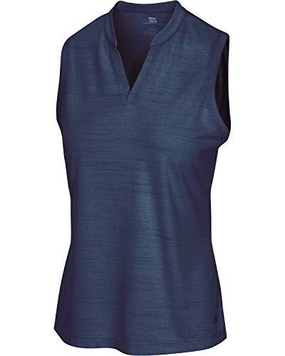 Three Sixty Six Women's Sleeveless Collarless Golf Shirt - Quick Dry Fabric, Lightweight Compression Golf Polo