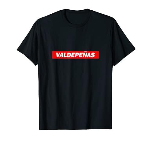Valdepeñas Caja Roja Logo Ciudad Divertido Camiseta