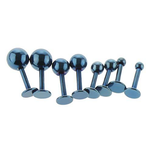 IPOTCH Pendientes de Oreja Perforada - Azul