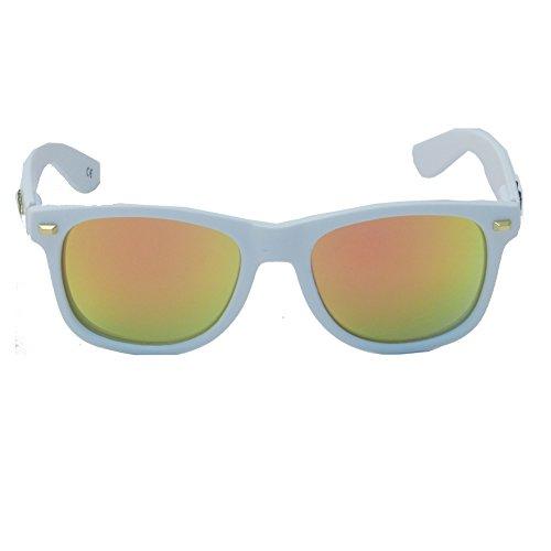 Knockaround Gafas de Sol Fort Knocks Matte White Sunset Polarizada