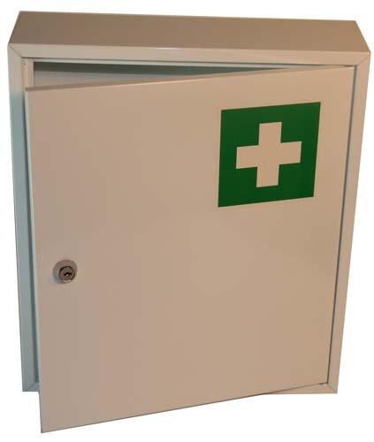 Spetebo Arzneischrank Medizinschrank aus Metall - 36 cm x 31 cm - Erste Hilfe Kennzeichnung