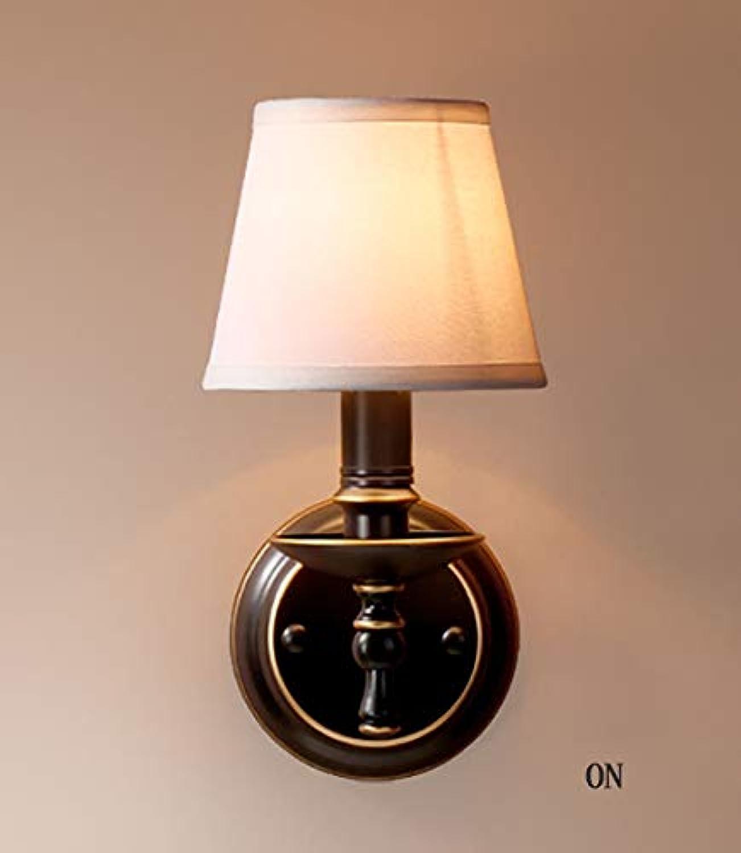 Wandleuchte Licht Nordic Bügeleisen Retro Wohnzimmer Schlafzimmer Wand Lampe einfach Tuch Esszimmer Flur Flur Wandleuchte (zwei Farben) (Stil  A)