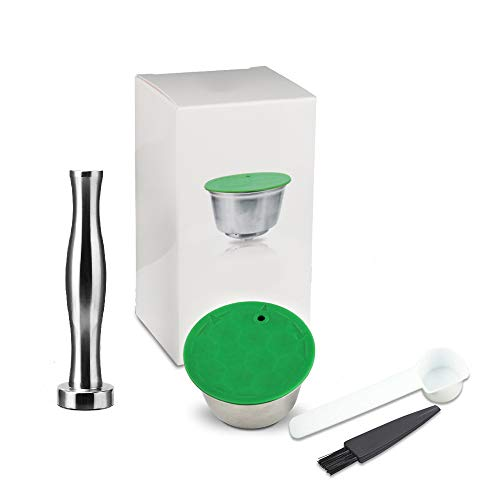 ONEVER Hervulbare Koffiecapsule, Roestvrijstalen Herbruikbare Koffiecapsule Compatibel met Nescafe Dolce Gusto-koffiemachine voor Huizen, Restaurants, Bedrijven, Enz