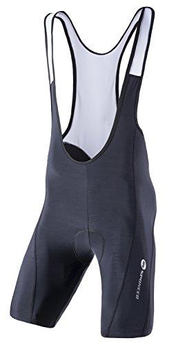 sponeed Bicycle Men Bibs Pants Biker Bib Shorts Pro Racing Riding Underwear Uniform US L White-Black