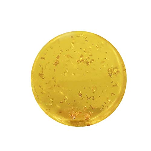 ZYCX123 Almacenamiento 1PC Hecho a Mano Natural orgánico Facial de Almacenamiento scrubbedsing Barra hidratante e hidratante scrubbedser Todo Tipo de Piel con aceites Esenciales (Hoja de Oro) Regalo