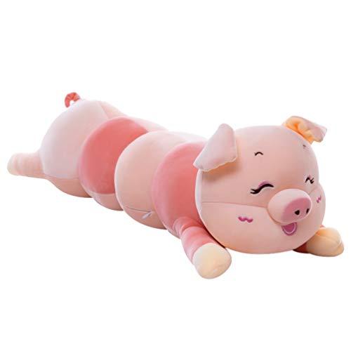 Toyvian Almohada Oruga Cerdo Abrazado Gigante Adorable Muñeco de Peluche de Felpa Grande para Niños Favor de Los Niños Sofá de La Sala de Estar del Dormitorio ( 55Cm )