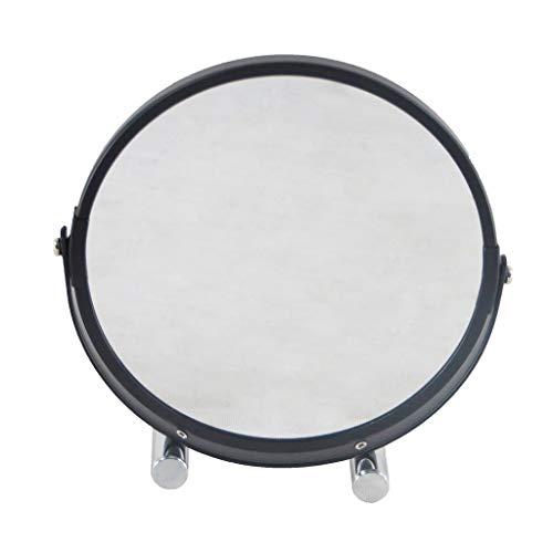 WANGXIAOLINjingzi Jing Miroir De Maquillage Grossissant,1X Et 2X avec Grossissement De 360 degrés Rotation- Clair Et Transparent (Color : Black)