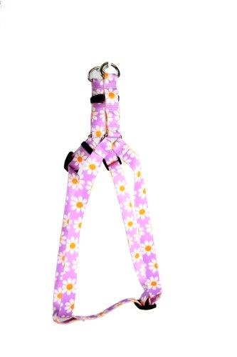 Yellow Dog Design Step-In Harness, Medium, Lavender Daisy