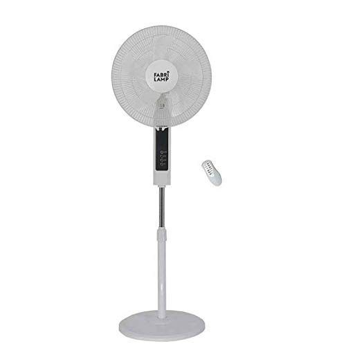 Ventilador De Pie Blanco con mando a distancia CACIMBO de Fabrilamp