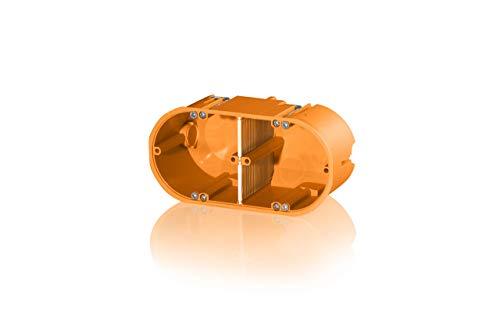 f-tronic Hohlwand-Gerätedose massiv, 2-Fach, 60mm tief, HW20, Inhalt: 10, Stück