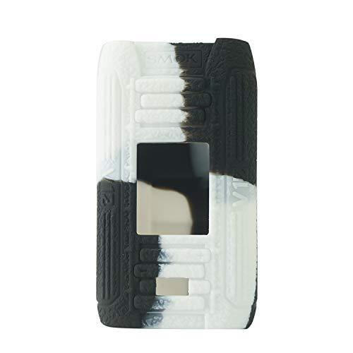 RUIYITECH - Custodia Protettiva in Silicone per Smok e-priv MOD Smoktech E Priv 230w MOD Black White