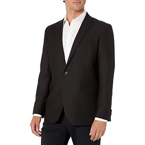 Kenneth Cole REACTION Men's Techni-Cole Stretch Slim Fit Suit Separate Blazer (Blazer, Pant, and Vest), Black, 46 Regular