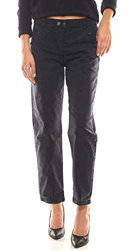 LauRie Hose schmale Damen Cropped-Jeans mit Ziernähten Serena Freizeit-Hose Cropped-Jeans Dunkelblau, Größe:42