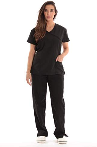Just Love Tie Back Scrubs Set for Women 17777W Black XL product image