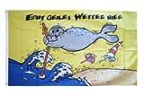 Flaggenfritze® Flagge Echt geiles Wetter Hier 90x150cm